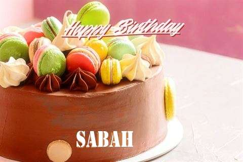 Happy Birthday Cake for Sabah