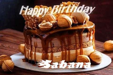Happy Birthday Wishes for Sabana