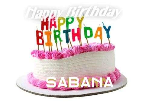 Happy Birthday Cake for Sabana