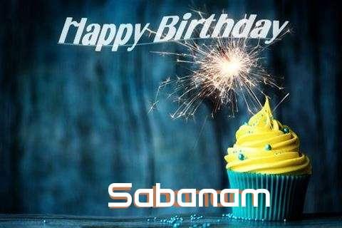 Happy Birthday Sabanam Cake Image