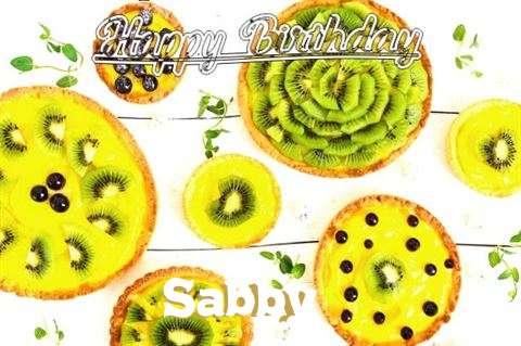 Happy Birthday Sabby Cake Image