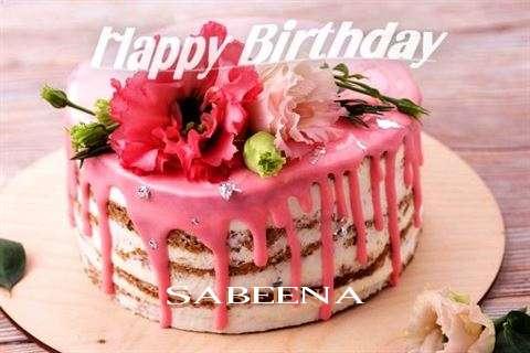 Happy Birthday Cake for Sabeena