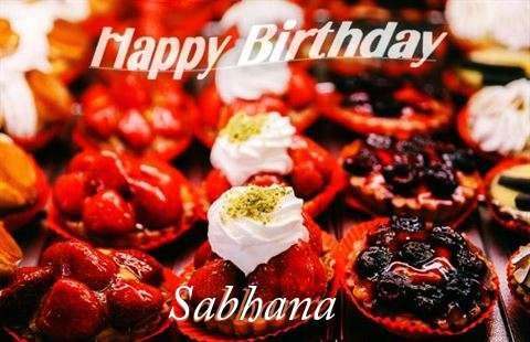 Happy Birthday Cake for Sabhana
