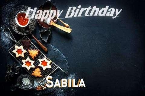 Happy Birthday Sabila Cake Image