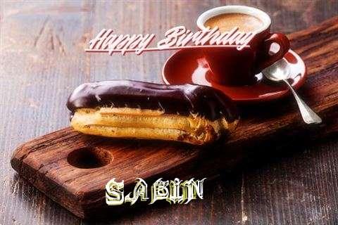 Happy Birthday Sabin Cake Image