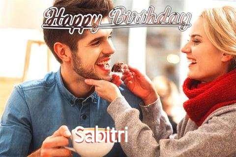 Happy Birthday Sabitri Cake Image