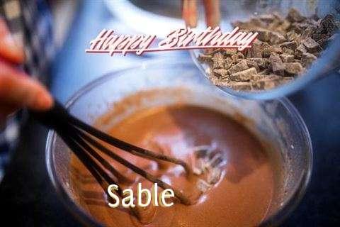 Happy Birthday Sable Cake Image