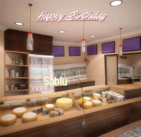Happy Birthday Sablu Cake Image