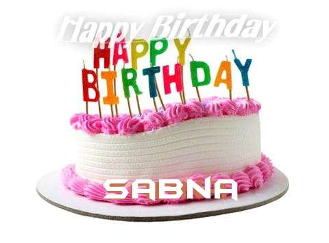 Happy Birthday Cake for Sabna