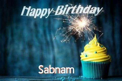 Happy Birthday Sabnam Cake Image
