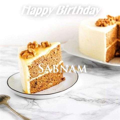 Happy Birthday Cake for Sabnam