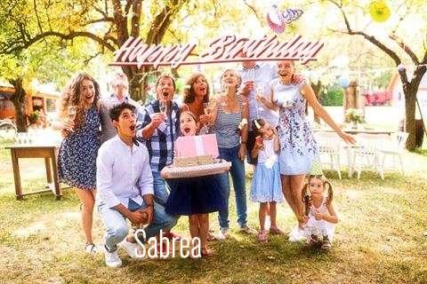 Happy Birthday Cake for Sabrea