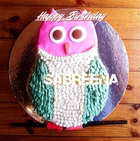 Happy Birthday Cake for Sabreena
