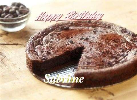Happy Birthday Cake for Sabrine