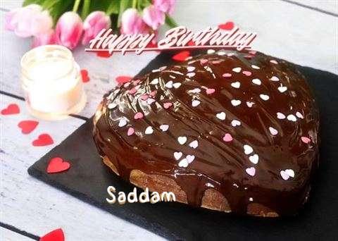Happy Birthday Cake for Saddam