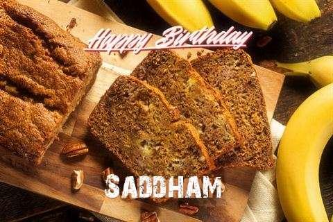 Happy Birthday Saddham Cake Image