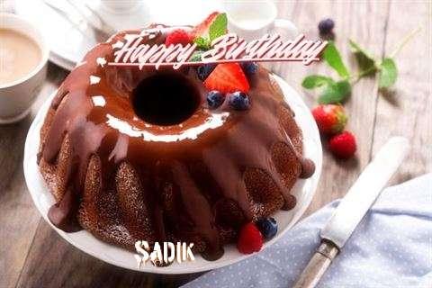 Happy Birthday Sadik Cake Image