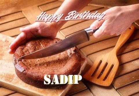Happy Birthday Sadip Cake Image