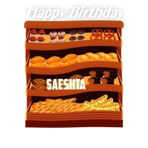 Happy Birthday Cake for Saeshta