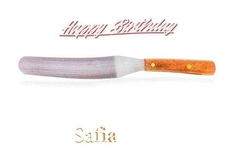 Happy Birthday Cake for Safia