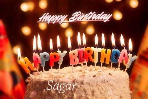 Happy Birthday Cake for Sagar