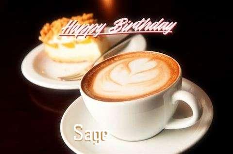 Happy Birthday Sage Cake Image