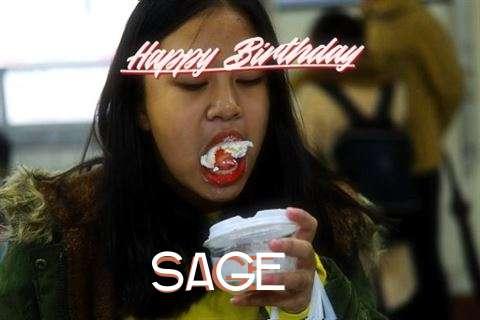 Happy Birthday Cake for Sage