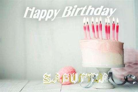 Happy Birthday Sagufta Cake Image