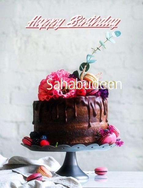 Happy Birthday Sahabudeen Cake Image