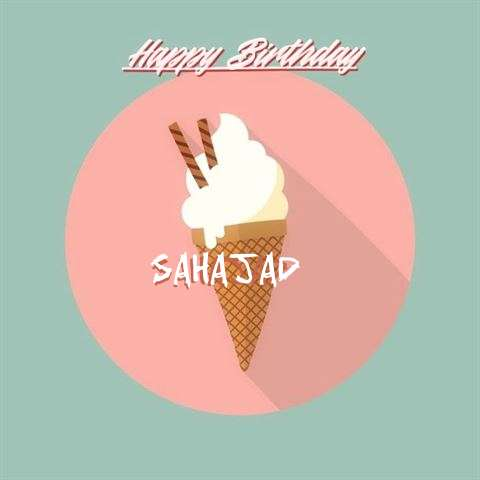 Happy Birthday Sahajad Cake Image