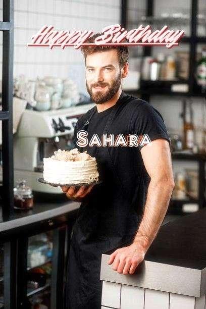 Happy Birthday Sahara Cake Image