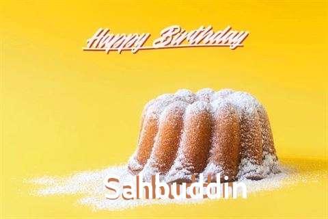 Happy Birthday Sahbuddin Cake Image