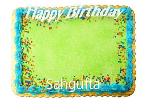 Happy Birthday Sahgufta Cake Image