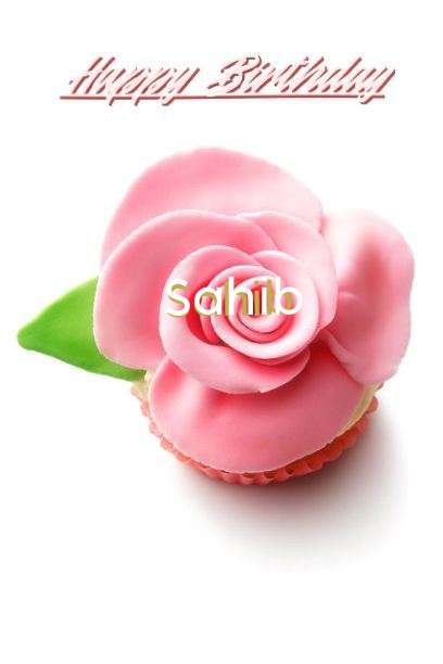 Happy Birthday Sahib Cake Image