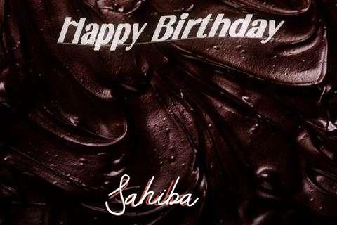 Happy Birthday Sahiba Cake Image
