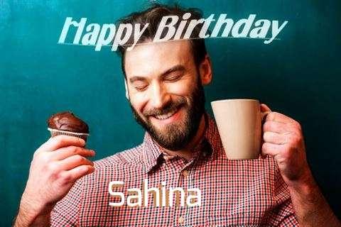 Happy Birthday Sahina Cake Image