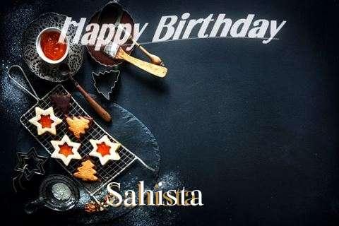 Happy Birthday Sahista Cake Image