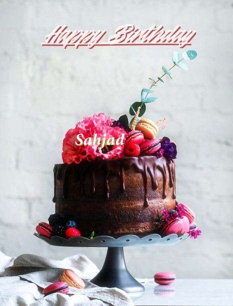 Happy Birthday Sahjad Cake Image