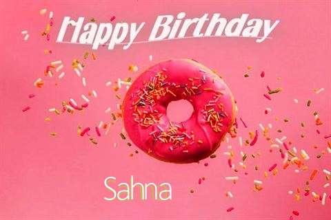Happy Birthday Cake for Sahna