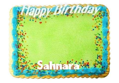 Happy Birthday Sahnara Cake Image