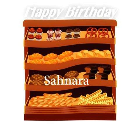 Happy Birthday Cake for Sahnara