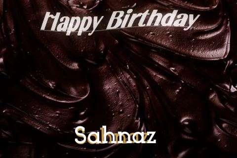 Happy Birthday Sahnaz Cake Image