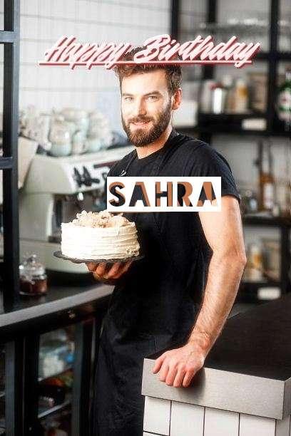 Happy Birthday Sahra Cake Image