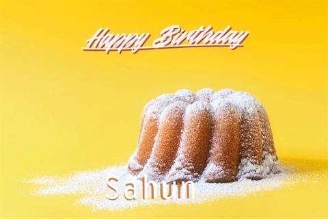 Happy Birthday Sahun Cake Image