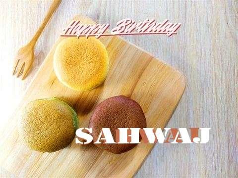 Happy Birthday Sahwaj Cake Image