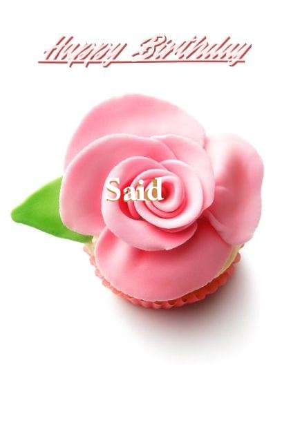 Happy Birthday Said Cake Image