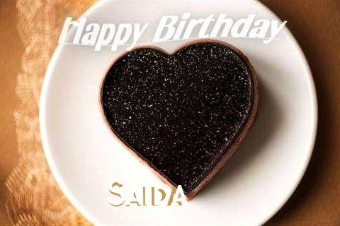 Happy Birthday Saida Cake Image