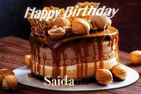 Happy Birthday Wishes for Saida