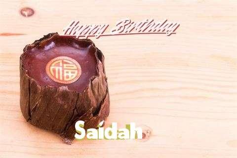 Happy Birthday Saidah
