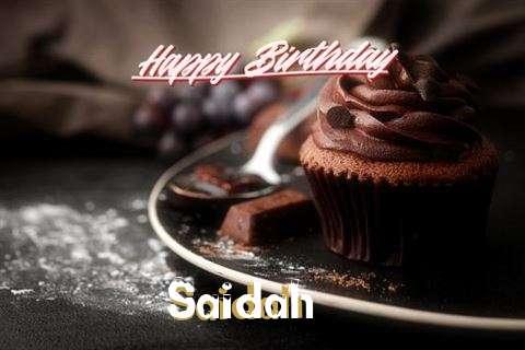 Happy Birthday to You Saidah